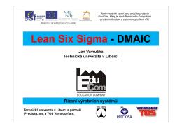 SixSigma - Úvod.pdf - Katedra výrobních systémů