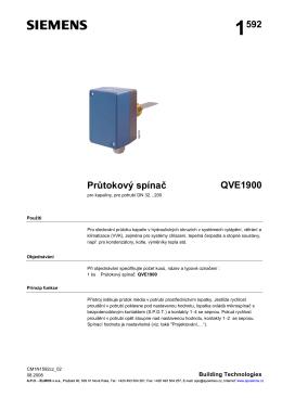 1592 Průtokový spínač QVE1900