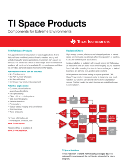 TI Space Products - Texas Instruments