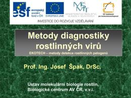 Metody diagnostiky rostlinných virů