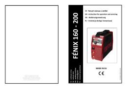 FÉNIX 160 - 200 - Svářečky