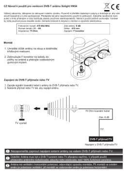 CZ Návod k použití pro venkovní DVB-T anténu - SOLIGHT E-shop