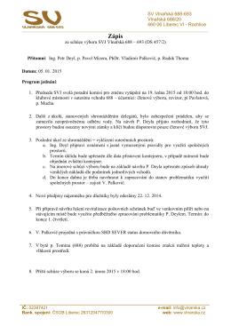 Zápis - 5.1.2015 - Společenství vlastníků Vlnařská 688-693