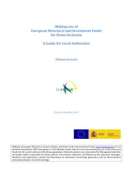 Making use of European Structural and Investment