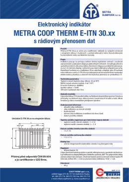 Technický list Metra E-ITN 30.XX