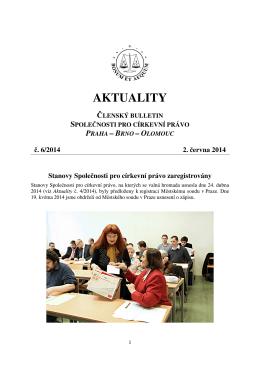 Aktuality č. 6/2014 - Společnost pro církevní právo