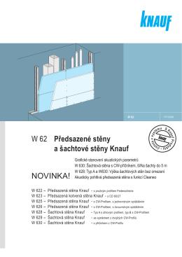 W 62 Předsazené stěny a šachtové stěny Knauf NOVINKA!