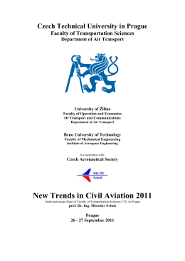 New Trends in Civil Aviation 2011