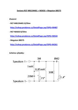 Sestava RCF MB15N401 + ND650 + Megaton B8575