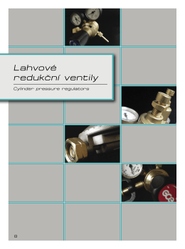 Lahvové redukční ventily - MALINA