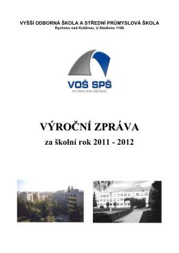 2011 - 2012 - Na začátek - VOŠ a SPŠ Rychnov nad Kněžnou
