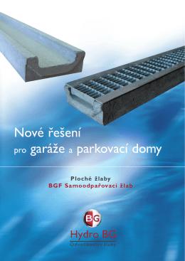 BGF ploché žlaby - Hydro BG CZ sro