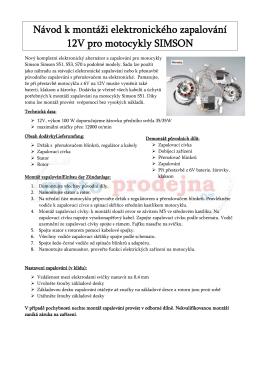 Montáž a schema zapojení VAPE - moto