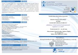 Konferencja 20.06.2014 - Wyższa Szkoła Ekonomiczno