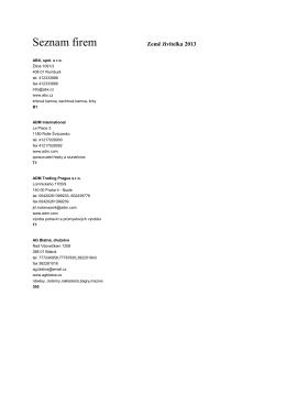 Seznam katalog 14.8. - Výstaviště České Budějovice as