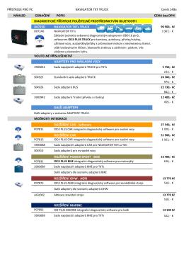 Podrobný ceník a ceník adaptérů ZDE