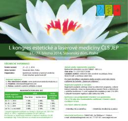 I. kongres estetické a laserové medicíny ČLS JEP