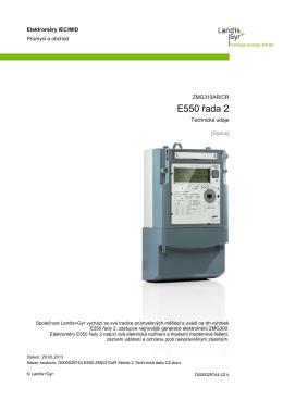 E550 řada 2 ZMG310AR/CR
