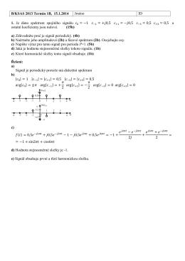 B/KSAS 2013 Termín 1B, 15.1.2014 Jméno ID 1. Je dáno spektrum