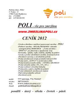 CENÍK 2012 - Zmrzlina POLI
