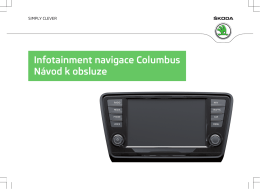 Infotainment navigace Columbus Návod k obsluze