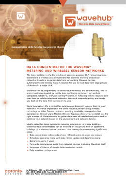 data concentrator for wavenis™ metering and wireless sensor