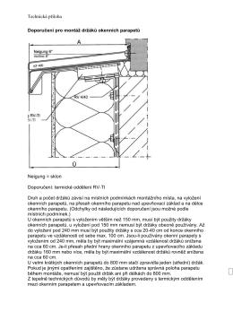 Doporučení pro montáž držáků okenních parapetů