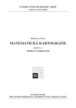 MATEMATICKÁ KARTOGRAFIE