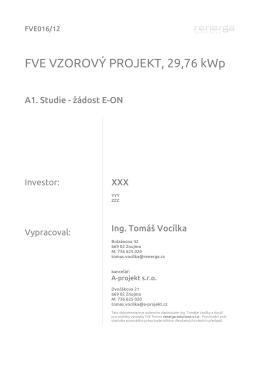 FVE VZOROVÝ PROJEKT, 29,76 kWp
