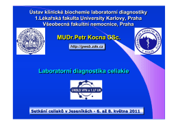 Laboratorní diagnostika celiakie