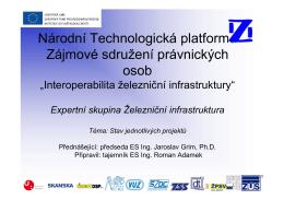 Národní Technologická platforma Zájmové sdružení právnických