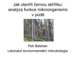 Funkce mikroorganismu v pude