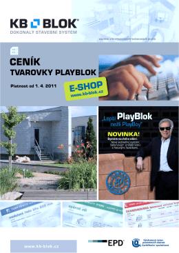 CENÍK tvarovky PlayBlok - KB