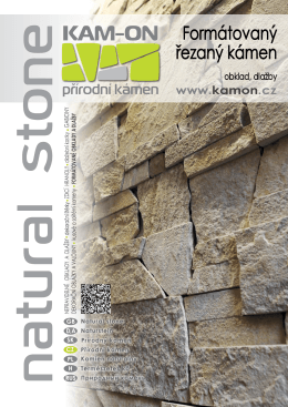 Formátovaný kámen obklady a dlažby - KAM-ON