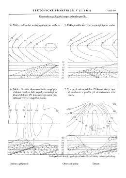 TEKTONICKÉ PRAKTIKUM V (2. část) Konstrukce geologické mapy