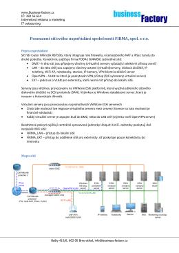 Vzorový audit sítě ke stažení ZDE