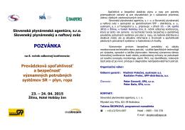 Pozvánka na konferenciu - Slovenský plynárenský a naftový zväz