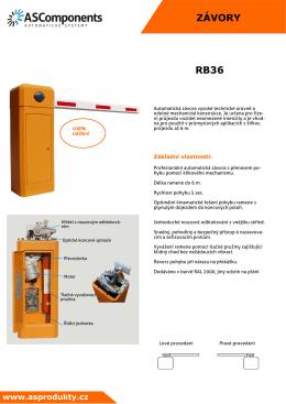 Katalogový liost RB36 - automaticke