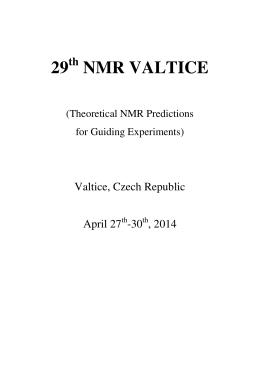29 NMR VALTICE