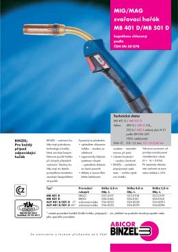Prospekt MB 401 D - Svářečky