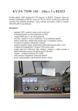 KV PA 750W 160 – 10m s 3 x RE025