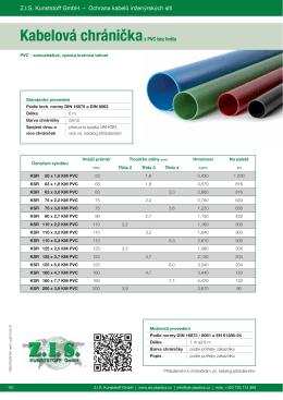 Kabelová chráničkaz PVC bez hrdla