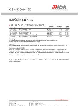 Ceník IZD 2014 od 1.10.2014