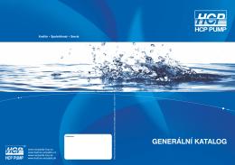 generální katalog čerpadel hcp 2015