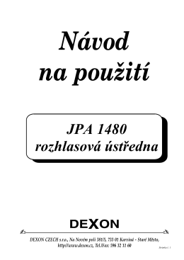 JPA 1480 rozhlasová ústředna