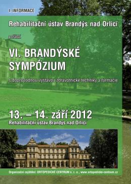 VI. BRANDÝSKÉ SYMPÓZIUM 13. – 14. září 2012