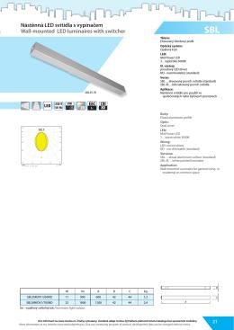 Nástěnná LED svítidla s vypínačem Wall-mounted LED