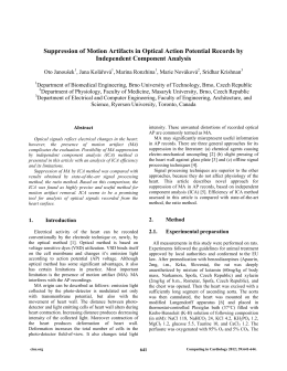 Suppression of Motion Artifacts in Optical Action Potential Records