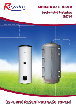 Katalog akumulačních nádrží a zásobníkových ohřívačů