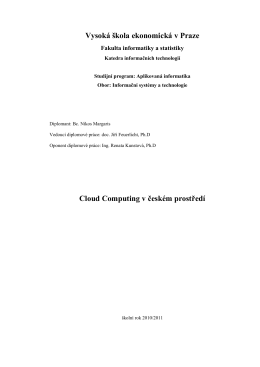 Cloud Computing v českém prostředí